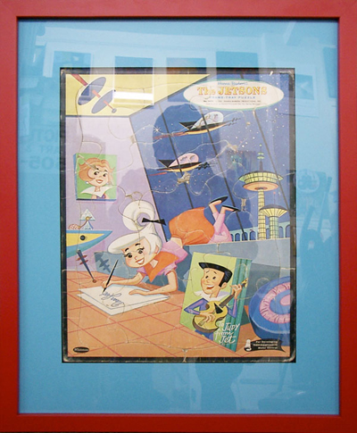 A Jetsons Puzzle, framed for Blackstone Hotsprings' Jetsons Suite