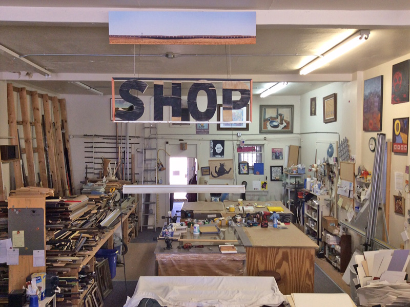 Hot Springs Frame & Art Supply work area