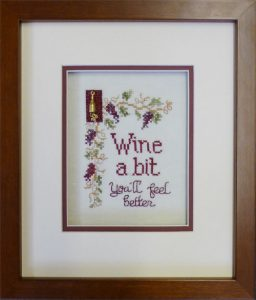 Counted Cross Stitch framed at Hot Springs Frame & Art Supply