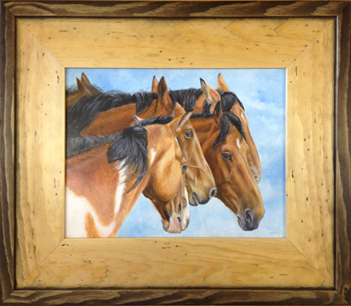 Roughstock - oil on canvas painting by Mary Welty