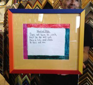 framed art by kids