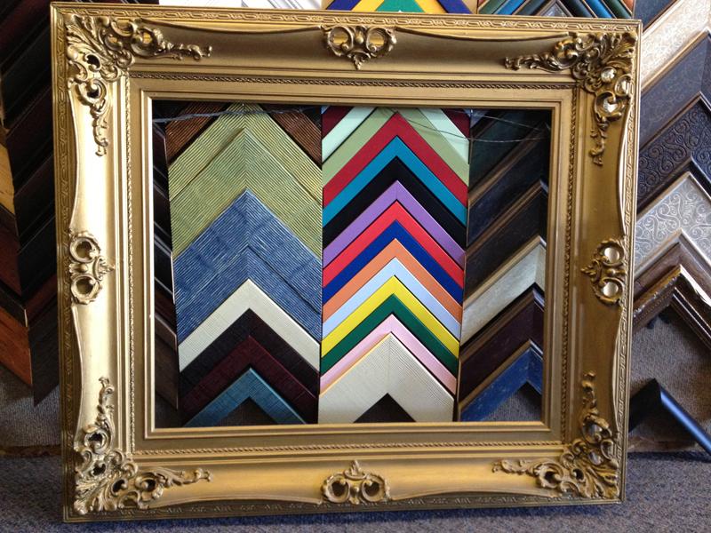 embellished vintage Italian frame, rectangular