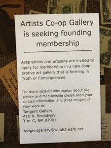 Artists Co-Op flyer