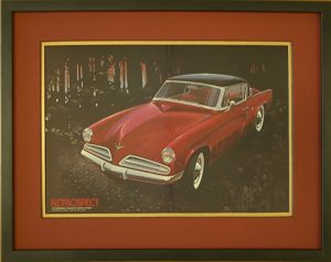 red Studebaker framed for one of our fave clients