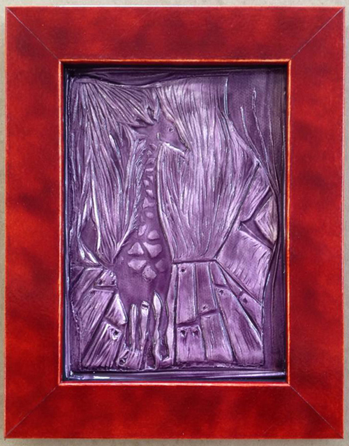 framed ceramic tile by Cecily Morganthaul-Morrongiello