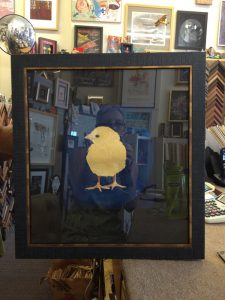 gold leaf chick by Jinni Mitchell