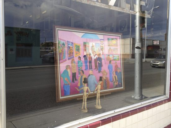 Frame Shop window with Betty Ann Pedersen painting