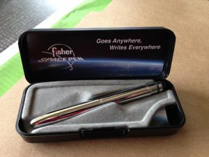 bullet space pen in a box.