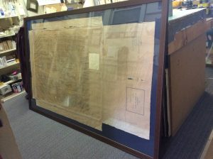 framed map of Hot Springs Cemetery