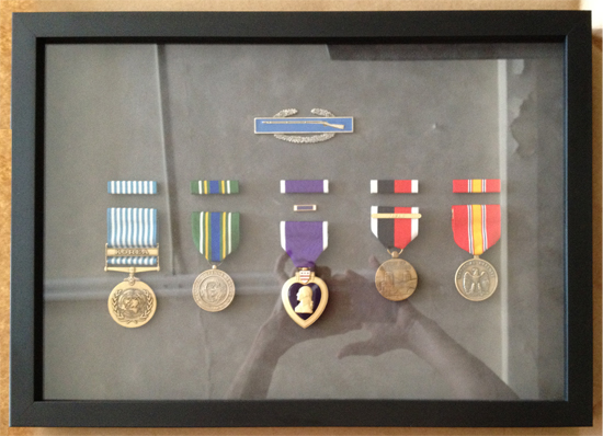 war veterans medals framed by Hot Springs Frame and Art Supply in Truth or Consequences New Mexico