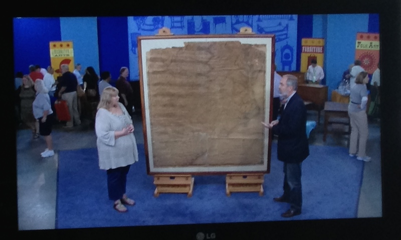 framed map on the Antiques Roadshow