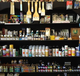 art supplies at Hot Springs Frame Shop in Truth or Consequences