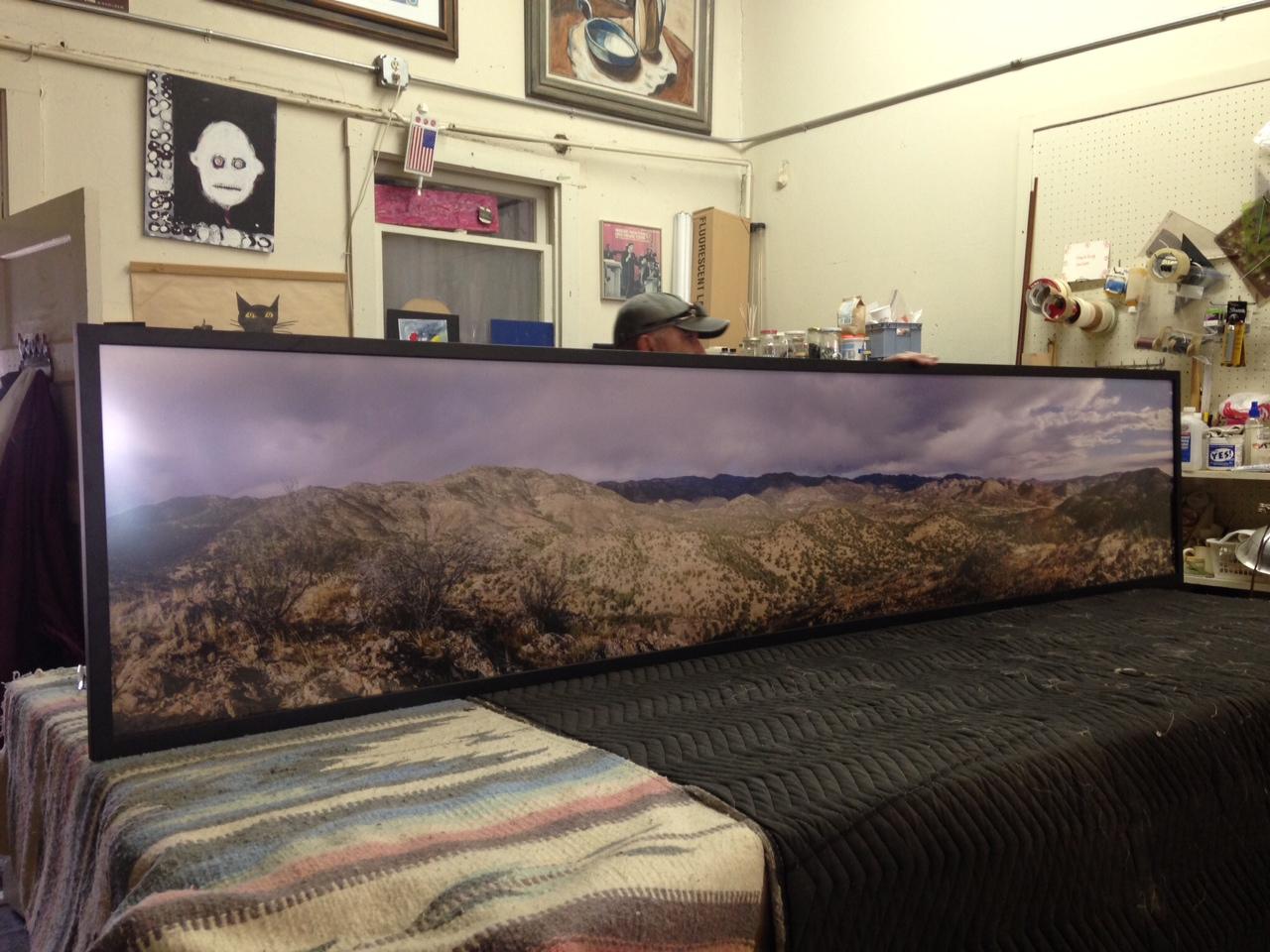 panoramic photo of the Black Range in Sierra County