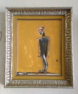 "Kyle Cunningham, 10"" x 8"" oil on panel, framed"