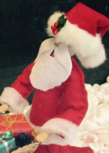 Santa in the window at Hot Springs Frame & Art Supply