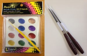 pinstripe brushes & pearly watercolors