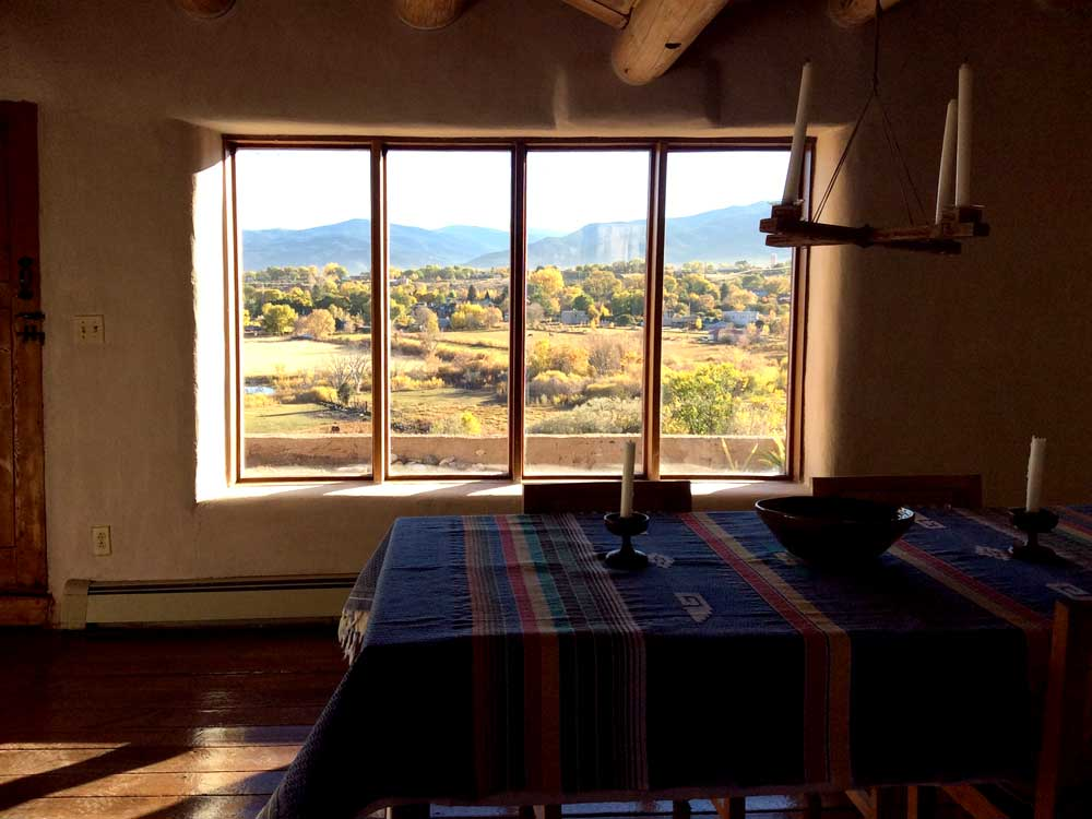 LLano Quemado view from the dining room