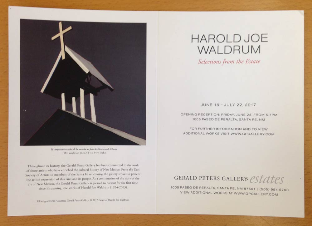 Waldrum show at Gerald Peters Gallery June 2017