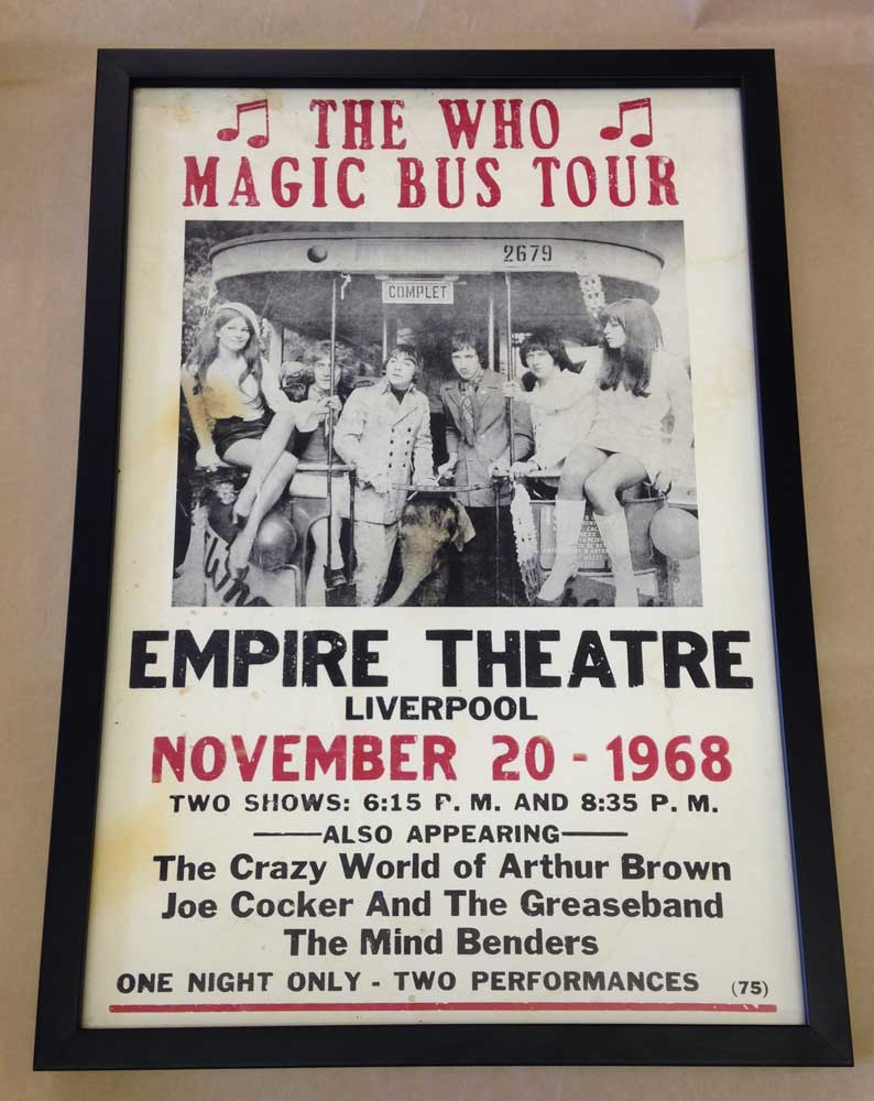 The Who Magic Bus Tour poster