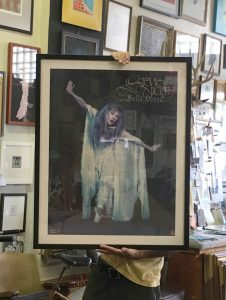 Stevie Nicks Bella Donna poster, framed at Hot Springs Frame & Art Supply