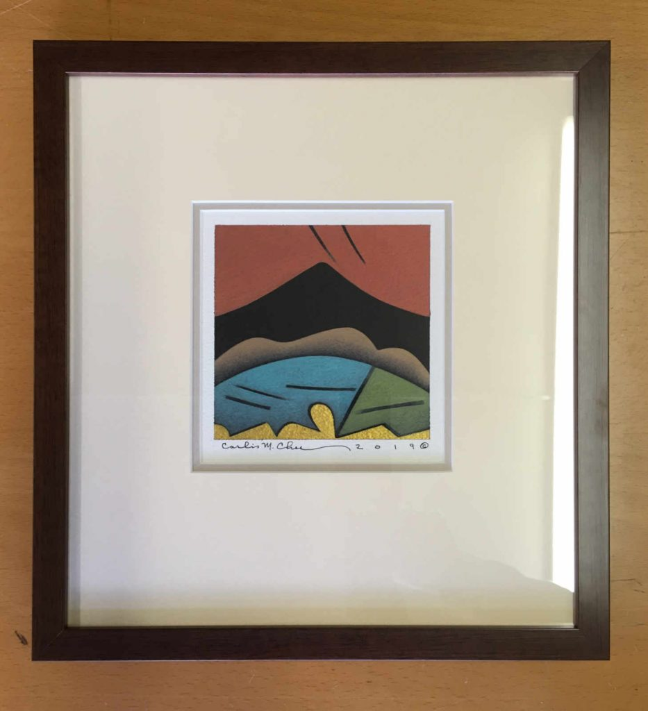 Carlis Chee painting, framed by Hot Springs Frame & Art Supply